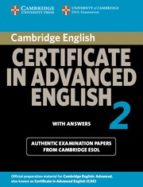 certificate in advanced english 2 for updated exam (student s boo k with answers) (university of cambridge esol examinations) 9780521714471