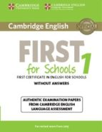 cambridge english first 1 for schools for revised exam from 2015 student s book without answers 9781107692671