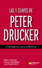 las 5 claves de peter drucker: el liderazgo que marca la diferencia peter f. drucker joan snyder kuhl 9788416583171