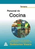 temario personal de cocina del gobierno vasco-9788466506571