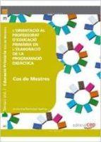 cos de mestres. primària. l orientació al professorat d educació primària en l elaboració de la programació didàctica-9788468143071