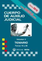 CUERPO DE AUXILIO JUDICIAL VOLUMEN II TEMARIO