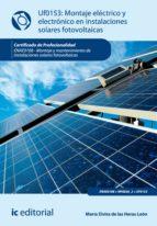 MONTAJE ELÉCTRICO Y ELECTRÓNICO DE INSTALACIONES SOLARES FOTOVOLTÁICAS. ENAE0108