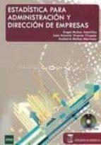 estadistica para administracion y direccion de empresas-angel muñoz alamillos-9788492477371