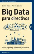 big data para directivos albert solana genis roca 9788492921171