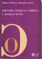 amparo, habeas corpus y habeas data ruben flores dapkevicius 9789974578371