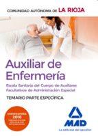ESCALA SANITARIA DEL CUERPO DE AUXILIARES FACULTATIVOS DE ADMINISTRACIÓN ESPECIAL (AUXILIAR DE ENFERMERÍA) DE LA RIOJA.