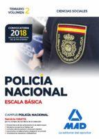 policia nacional escala basica: temario (vol. 2): ciencias sociales 9788414214381