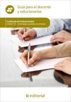 (i.b.d.)actividades auxiliares de almacen. coml0110 guia para el docente y solucionario-9788415730781