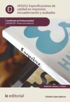 especificaciones de calidad en impresión, encuadernación y acabados. argn0109 (ebook)-9788417224981