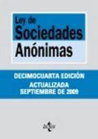 ley de sociedades anonimas (15ª ed)-ignacio (ed.) arroyo martinez-9788430950881