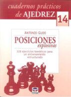 posiciones explosivas: cuadernos practicos de ajedrez nº 14: 128 ejercicios tematicos para un entrenamiento estructurado antonio gude 9788479029081