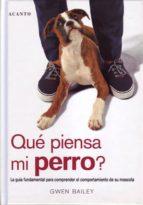 que piensa mi perro?: la guia fundamental para comprender el comp ortamiento de su mascota-gwen bailey-9788495376381