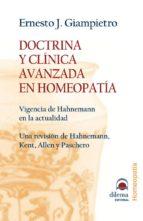 doctrina y clinica avanzada en homeopatia ernesto j. giampietro 9788496079281