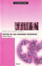 textos de los grandes filosofos: edad media (4ª ed.)-francisco canals vidal-9788425410291