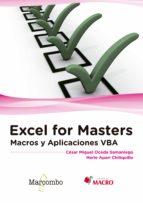 excel for masters: macros y aplicaciones vba herle apari c�sar miguel oceda 9788426723291