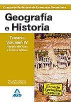 cuerpo de profesores de enseñanza secundaria. geografia e histori a. temario (vol. iv): historia del arte y mundo actual 9788466579391