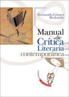 manual de critica literaria contemporanea fernando gomez redondo 9788497402491
