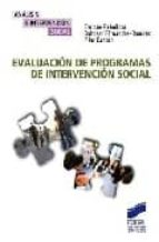 evaluacion de programas de intervencion social enrique rebolloso pacheco 9788497565691