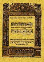 declaracion de instrumentos musicales (ed. facsimil)-9788497615891