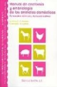 MANUAL DE ANATOMIA Y EMBRIOLOGIA DE ANIMALES DOMESTICOS: CONCEPTO S BASICOS Y DATOS APLICATIVOS - 9788420010601 - VV.AA.