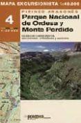 MAPA EXCURSIONISTA 4 (1:40.000) PIRINEO ARAGONES: PARQUE NACIONAL DE ORDESA Y MONTE PERDIDO - 9788483211311 - VV.AA.