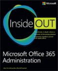 MICROSOFT OFFICE 365 ADMINISTRATION INSIDE OUT - 9780735678231 - VV.AA.