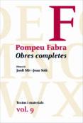 obres completes pompeu fabra, 9-pompeu fabra-9788475883731