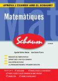 MATEMATIQUES (SCHAUM) (2ª ED.) - 9788448198541 - JUAN ENCISO PIZARRO