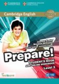 CAMBRIDGE ENGLISH PREPARE! 3 STUDENT S BOOK AND ONLINE WORKBOOK WITH TESTBANK - 9781107497351 - VV.AA.