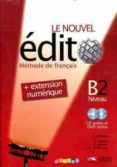le nouvel edito b2 (livre+cd+dvd)-corina brillant-9788477117551
