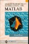 ANALISIS MATEMATICO Y ALGEBRA LINEAL CON MATLAB - 9788478973651 - CESAR PEREZ