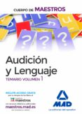 AUDICION Y LENGUAJE TEMARIO 1 - 9788414206881 - VV.AA.