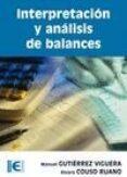 INTERPRETACION Y ANALISIS DE BALANCES - 9788478979691 - MANUEL GUTIERREZ VIGUERA