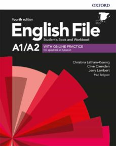 Kindle descarga de libros ENGLISH FILE 4TH EDITION A1/A2. STUDENT S BOOK AND WORKBOOK WITH KEY PACK in Spanish MOBI FB2 9780194058001 de