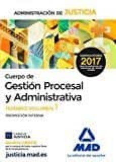 Viamistica.es Cuerpo De Gestion Procesal Y Administrativa De La Administracion De Justicia: Temario (Volumen 1) Image
