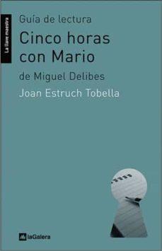 Inmaswan.es Guia De Lectura Cinco Horas Con Mario De Miguel Delibes Image