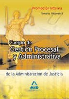 Padella.mx Cuerpo De Gestion Procesal Y Administrativa (Promocion Interna). Temario (Vol. Ii) Image
