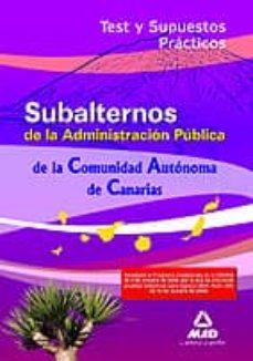 Inmaswan.es Subalternos De La Comunidad Autónoma De Canarias. Test Y Supuesto S Prácticos Image