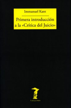 primera introduccion a la critica del juicio-immanuel kant-9788477740001