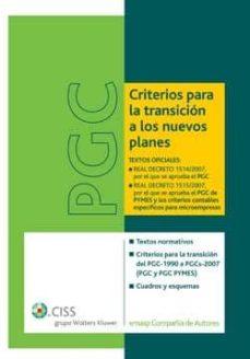 Descargar PGC CRITERIOS PARA TRANSICION A LOS NUEVOS PLANES gratis pdf - leer online