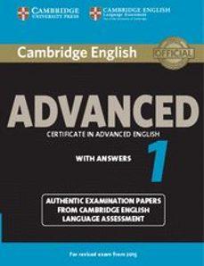Descargar libros de audio italianos CAMBRIDGE ENGLISH ADVANCED 1 FOR REVISED EXAM FROM 2015 STUDENT S BOOK WITH ANSWERS DJVU