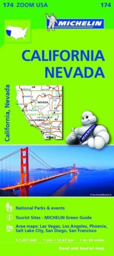mapa zoom usa california - nevada-9782067190511