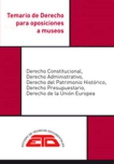 Eldeportedealbacete.es Temario De Derecho Para Oposiciones A Museos. Ed 2019 Image