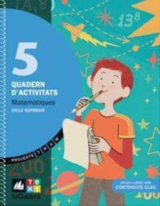 Inmaswan.es Matemàtiques 5 Quadern Activitats (Projecte Tram) Image