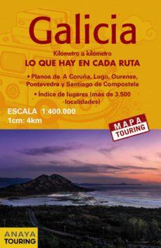 mapa de carreteras galicia (desplegable), escala 1:340.000 (2ª ed .) 2018 (mapa touring)-9788491580911