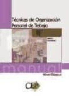 Mrnice.mx Manual Tecnicas De Organizacion Personal De Trabajo (Nivel Basico ). Formacion. Image