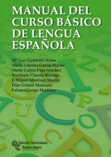 manual del curso basico de lengua española-maria luz gutierrez araus-m lourdes garcia-machado-9788499611211