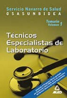 Iguanabus.es Tecnicos Especialistas De Laboratorio Del Servicio Navarro De Sal Ud Osasunbidea: Temario (Vol. I) Image