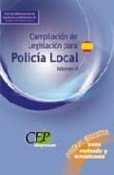 Milanostoriadiunarinascita.it Compilacion De Legislacion Para La Policia Local. Volumen Ii Image